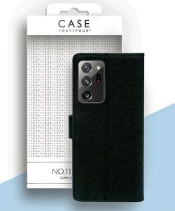 Samsung Galaxy Note 20 Ultra Case FortyFour No.11 Wallet Case Black