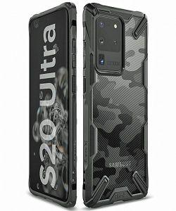 Samsung Galaxy S20 Ultra Ringke Fusion X Camo Case - Black
