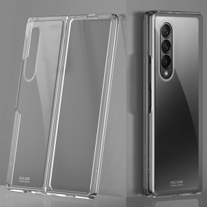Samsung Galaxy Z Fold 3 5G Luxurious Plating Silicone Cover Case - Clear MS000846
