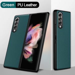 Samsung Galaxy Z Fold 3 5G PU Leather Back Cover Case - Green MS000839