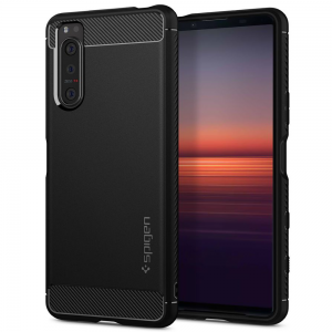 Sony Xperia 5 II Spigen Rugged Armor Case - Matte Black