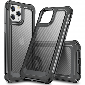 Tough-JAK Carbon Fiber Armor iPhone 13 Mini Case - Black MS000902