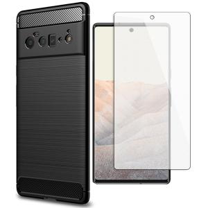 Tough-JAK Google Pixel 6 Carbon Fiber Case & Screen Protector - Black MS000919