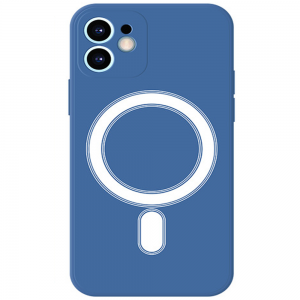 Tough-JAK iPhone 13 Mini Magsafe Silicone Case - Blue MS000972