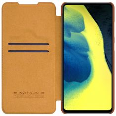 Samsung Galaxy A52s - A52 5G Nillkin Qin Series Genuine Leather case - Brown  MS000537
