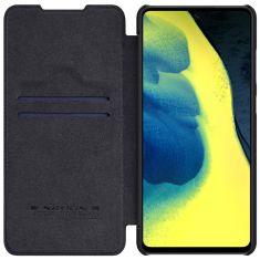 Samsung Galaxy A12 Nillkin Qin Series Genuine Leather case - Black MS000509
