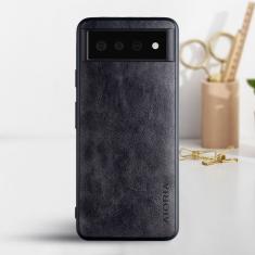 Aioria Coque Google Pixel 6 Leather Case Cover - Black MS000858