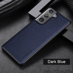 Aioria Samsung Galaxy S21 FE Leather Case Cover - Dark Blue MS000855