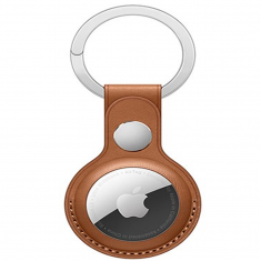 Apple AirTag Leather-Style Keyring - Brown MS000702