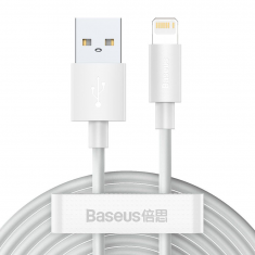 Baseus Wisdom 2 Pack lightning 150CM 2.4A Cable - White MS000430