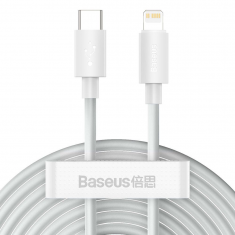 Baseus Wisdom 2 Pack Type C to Lightning 150CM PD20W 2.4A Cable - White MS000436