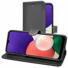 Samsung Galaxy A22 5G Wallet Case - Black MS000449