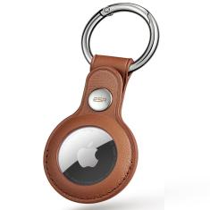 ESR Metro Apple AirTag Genuine Leather Protective Skin Case - Brown MS000716