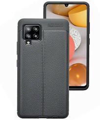 Samsung Galaxy A42 5G Leather Texture TPU Gel Case - Black MS000380