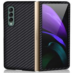 Genuine Carbon Fiber Samsung Galaxy Z Fold 3 5G Protective Case Cover - Black MS000837