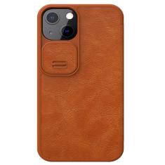 Genuine Leather iPhone 13 Mini Nillkin Qin Series Case - Brown MS000822