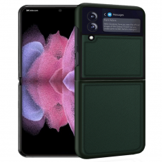 Genuine Leather Samsung Galaxy Z Flip 3 Case - Green MS000847