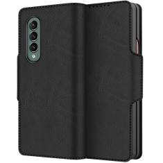 Luxurious Samsung Galaxy Z Fold 3 5G PU Leather Case - Black MS000726