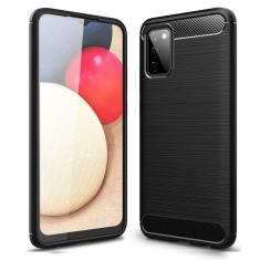 Samsung Galaxy A02s Tech-Protect Carbon Fiber Case - Black MS0004
