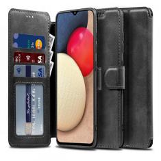 Samsung Galaxy A02s Tech-Protect Wallet Case - Black MS000470