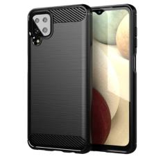 Samsung Galaxy A12 Tech-Protect Carbon Fiber Case - Black