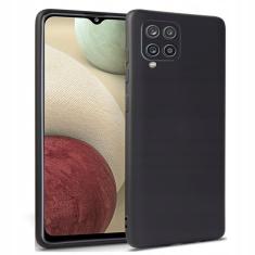 Samsung Galaxy A12 Tech-Protect Silicone Icon Case - Black MS000501