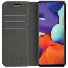 Samsung Galaxy A22 5G Case FortyFour No.11 Cross Grain Case - Black MS000657