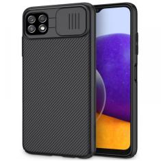 Samsung Galaxy A22 5G Nillkin CamShield Pro Cover Case - Black MS000752